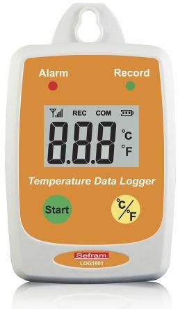 Sefram LOG 1601 Temperature Data Logger, Maximum Temperature Measurement +85 °C, USB, Battery Powered, LCD Display, IP65