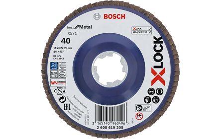 Bosch X-Lock Zirconia Aluminium Flap Disc, 125mm, P120
