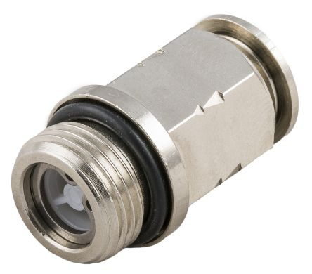 RS PRO 57065 Check Valve, Push In 4 mm Tube Inlet, 2 → 8bar