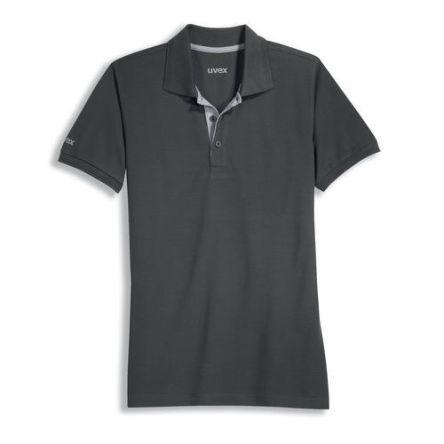 Uvex 8916 Grey Unisex's Polyester, Tencel Short Sleeved Polo, UK- XL, EUR- XL