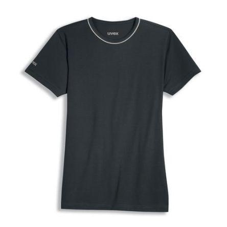 Uvex 8915 Black Unisex's Polyester, Tencel Short Sleeved T-Shirt, UK- M, EUR- M