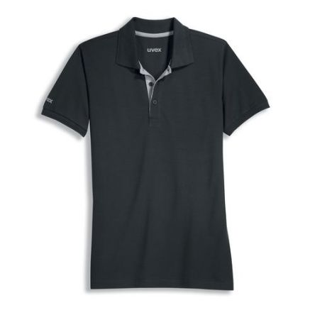 Uvex 8916 Black Unisex's Polyester, Tencel Short Sleeved Polo, UK- XL, EUR- XL