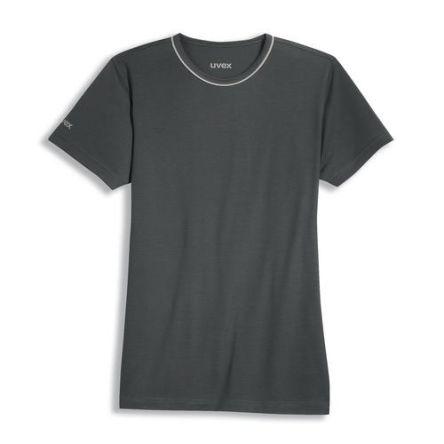 Uvex 8915 Grey Unisex's Polyester, Tencel Short Sleeved T-Shirt, UK- S, EUR- S