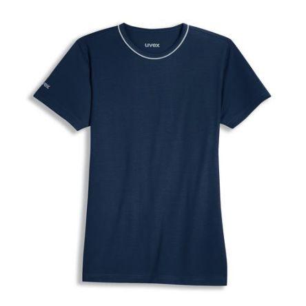 Uvex 8915 Navy Unisex's Polyester, Tencel Short Sleeved T-Shirt, UK- L, EUR- L