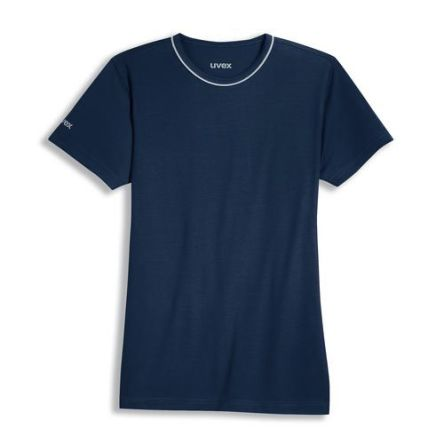 Uvex 8915 Navy Unisex's Polyester, Tencel Short Sleeved T-Shirt, UK- S, EUR- S