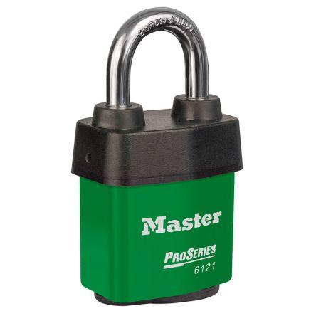 Master Lock 6121GRN All Weather Stainless Steel Padlock Keyed Alike 54mm