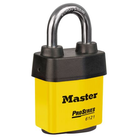 Master Lock 6121YLW All Weather Stainless Steel Padlock Keyed Alike 54mm