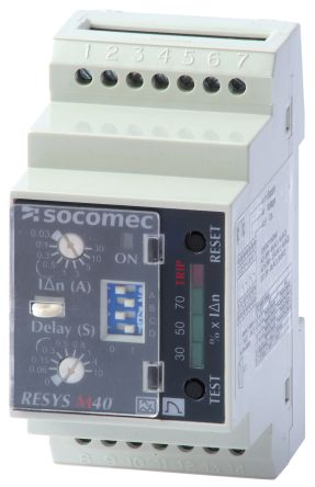 Socomec Differential Relay, 0.03 mA  30 A, 2