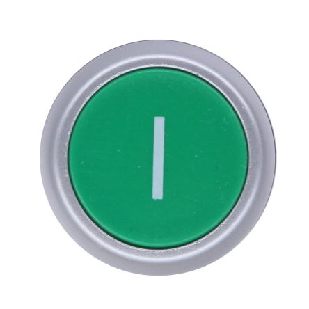 RS PRO Flush Green Push Button Head - Spring Return, 22mm Cutout, Round