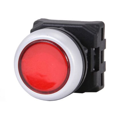 RS PRO Flush Red Push Button Head - Spring Return, 22mm Cutout, Round