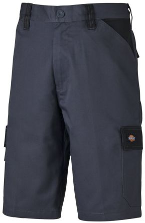 Dickies ED24/7SH Grey/Black Shorts Waist Size 30in
