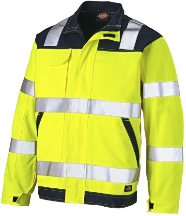 Dickies SA24/7JK Yellow/Navy Fleece, XL, Hi-Vis
