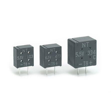 KEMET 0.1F Supercapacitor -20 → +80% Tolerance FM Series 3.5V dc Through Hole