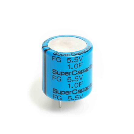 KEMET 0.22F Supercapacitor -20 → +80% Tolerance FG Series 5.5V dc Through Hole