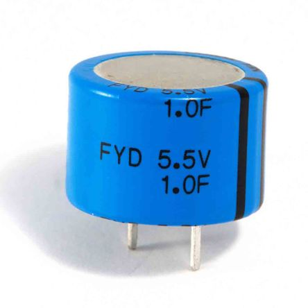 KEMET 0.047F Supercapacitor -20 → +80% Tolerance, FYH 5.5V dc, Through Hole