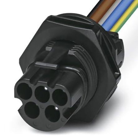 Phoenix Contact, PRC 5-FT25-MC6-150 Series, Connector, 5 Core 150mm Cable