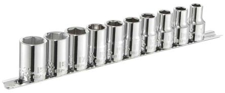 Expert by Facom E034837 10 Piece Socket Set, 1/2 in Square Drive