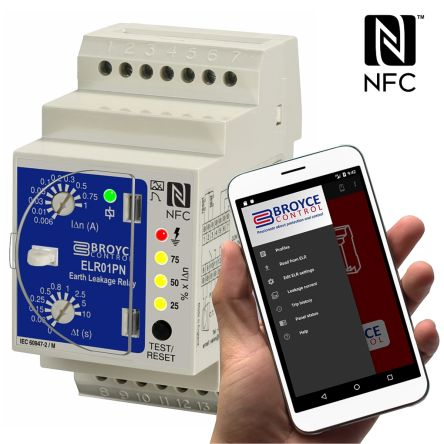 NFC Earth Leakage Relay 0.006 - 1A