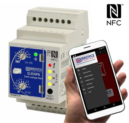 NFC Earth Leakage Relay 0.03 - 30A