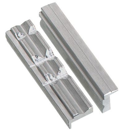 Vice jaws - Aluminum with prism 150mm