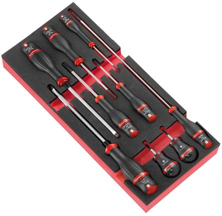 Facom Protwist Slotted Screwdriver Set 9 Piece