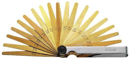 Facom 804.AM Brass Feeler Gauge, 19 Blades