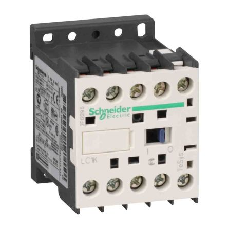 Schneider Electric 3 Pole Contactor - 20 A, 220 V ac Coil, TeSys, 3NO, 4 kW