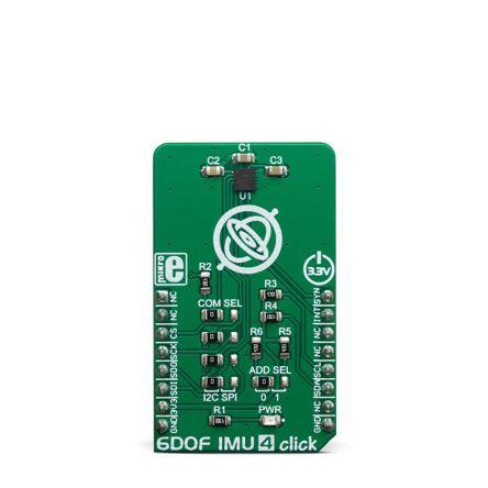 MikroElektronika MIKROE-3410, 6DOF IMU 4 Click for ICM-20602