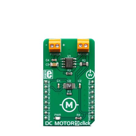 MikroElektronika MIKROE-3416 DC Motor 9 Click for DR8871