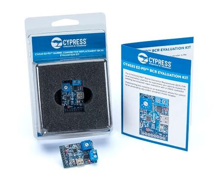 Cypress Semiconductor, EZ-PD Barrel Connector Replacement (BCR) Evaluation Kit Evaluation Kit for CY4533 - CY4533