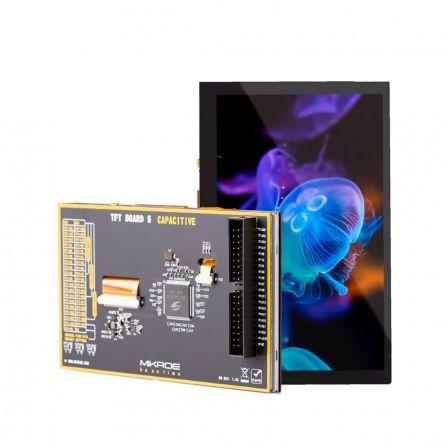 MikroElektronika MIKROE-3509, TFT Board 5 Capacitive 5in Display Board With SSD1963