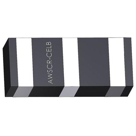 AWSCR-10.00CELB-C10-T3, Ceramic Resonator, 10MHz 10pF, 3-Pin SMD, 3.2 x 1.3 x 1mm
