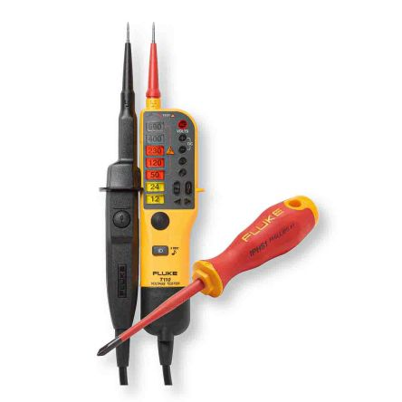 Fluke T110, Digital Voltage tester, 690V, Continuity Check, Battery Powered, CAT III 600V