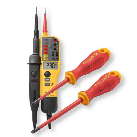 Fluke T130, LCD Voltage tester, 690V, Continuity Check, Battery Powered, CAT III 690V