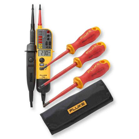 Fluke T150 Voltage Indicator with RCD Trip Test Continuity Check CAT III 690 V, CAT IV 600 V