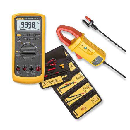 Fluke 87V Handheld Digital Multimeter, 10A ac 1000V ac 10A dc 1000V dc 50MΩ