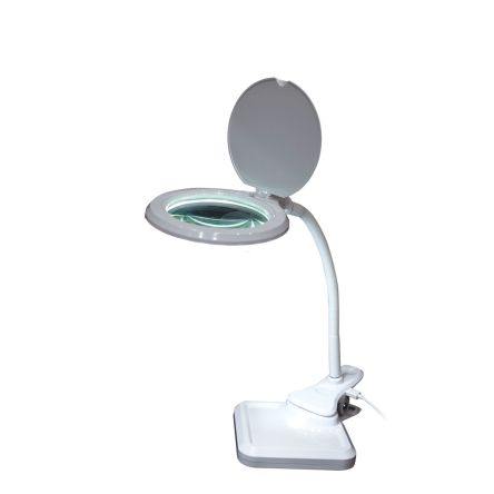 RS PRO LED Magnifying Lamp with LED Lamp, 3 dioptre, 100mm Lens, 100 (Dia.)mm Lens