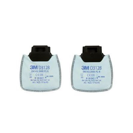 3M D3128 Gas, Particulates, Vapour Filter for use with 3M 800 Series Respirator