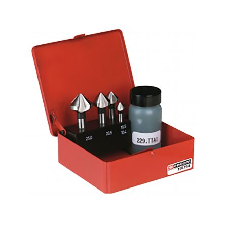 Facom Countersink Set x10.4 mm, 15.5 mm, 20.5 mm, 25 mm4 Piece