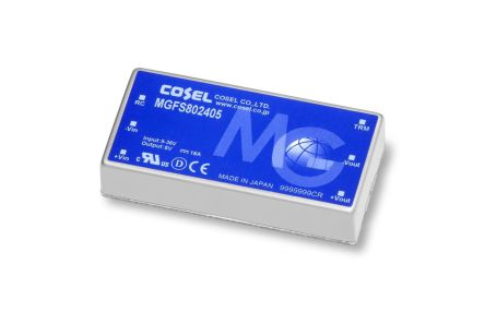 Cosel MGF 80W Isolated DC-DC Converter PCB Mount, Voltage in 9 → 36 V dc, Voltage out 5V dc