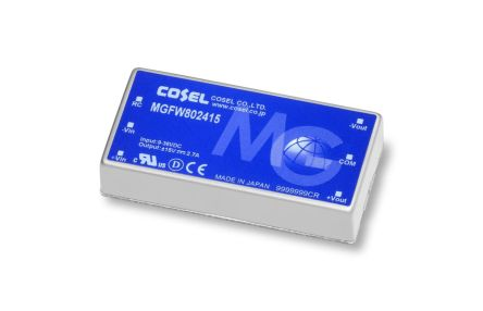 Cosel MGF 81W Isolated DC-DC Converter PCB Mount, Voltage in 9 → 36 V dc, Voltage out ±15 V dc, ±30 V dc