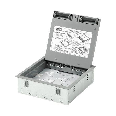 Mk Electric Grey Floor Box