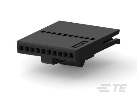 TE Connectivity FFC Female PCB Connector Housing, 1.27mm Pitch, 10 Way, 1 Row
