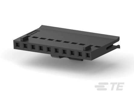 TE Connectivity FFC Female PCB Connector Housing, 2.54mm Pitch, 10 Way, 1 Row