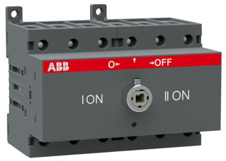 ABB 3 Pole Non-Fused Switch Disconnector, 63 A Maximum Current, 22 kW Power Rating, IP20