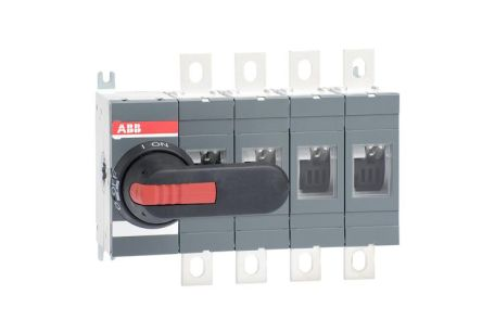 ABB 4 Pole Non-Fused Switch Disconnector, 400 A Maximum Current, 400 kW Power Rating, IP00, IP65