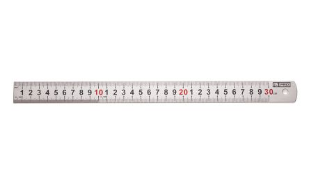 RS PRO 30cm Stainless Steel Metric Ruler