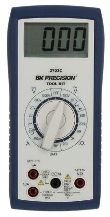 BK Precision BK2703C Handheld Digital Multimeter 750V ac 10A dc 1000V dc 20MΩ