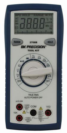 BK Precision BK2708B Handheld Digital Multimeter, 10A ac 750V ac 10A dc 1000V dc 34MΩ