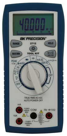 BK Precision BK2712 Handheld Digital Multimeter, 10A ac 750V ac 10A dc 1000V dc 40MΩ